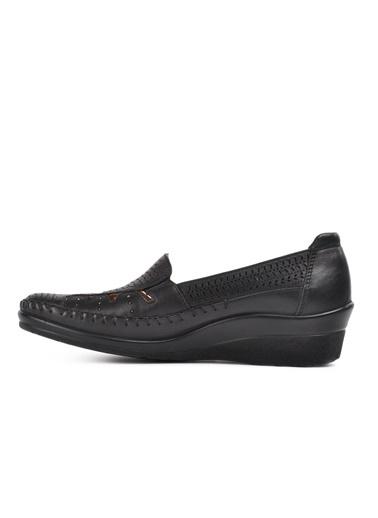 Forelli Forelli Siyah Düz Ayakkabı Siyah